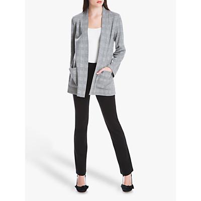 Max Studio Check Jacket, Black/White