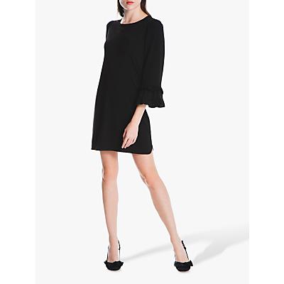 Max Studio Frill Sleeve Dress, Black