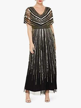 Studio 8 Avalon Beaded Maxi Dress, Black
