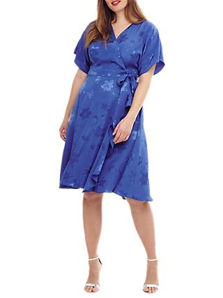 Studio 8 Orla Wrap Dress, Cobalt