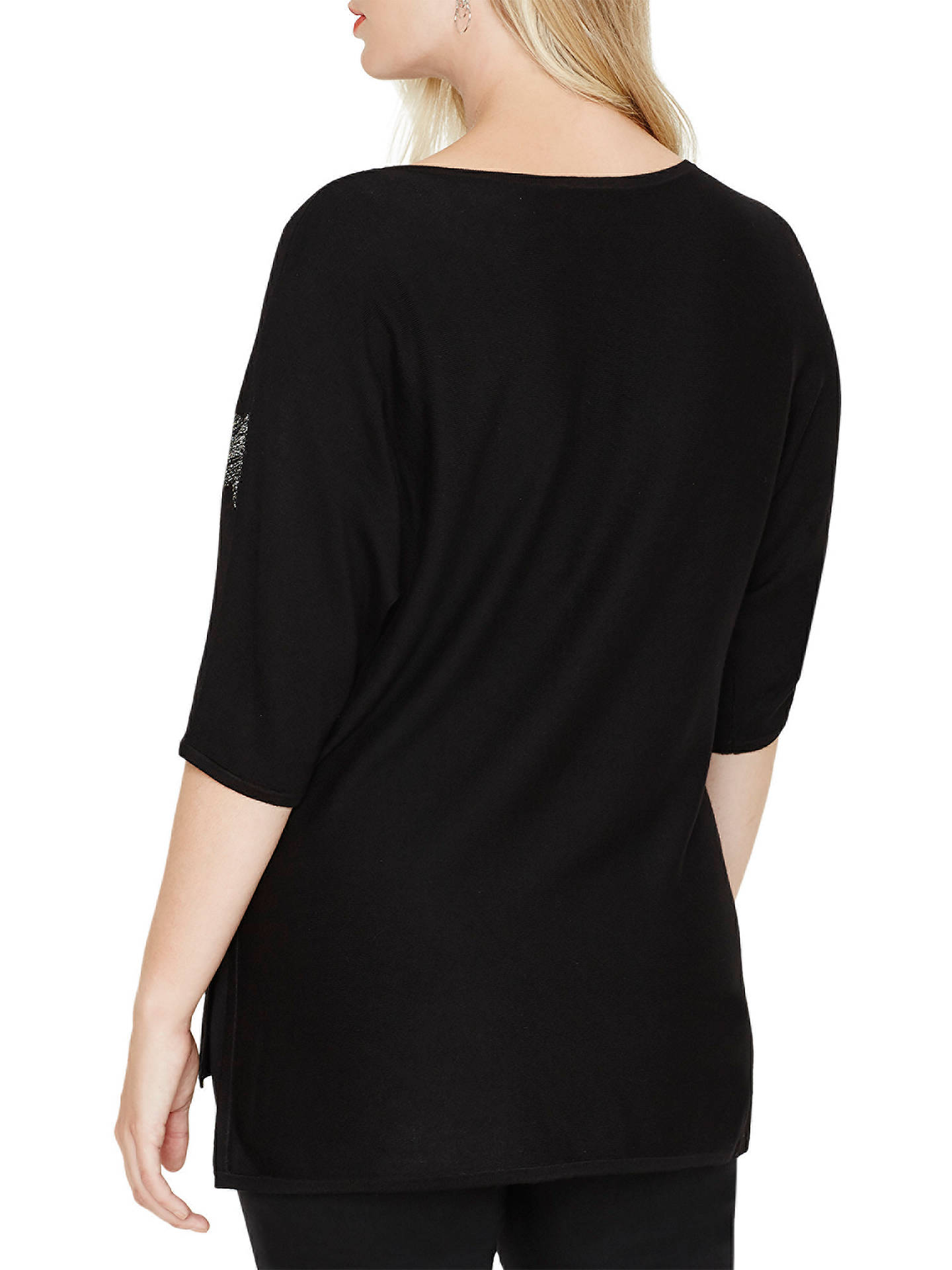 Buy Studio 8 Bexley Star Jumper, Black/Silver, 14 Online at johnlewis.com