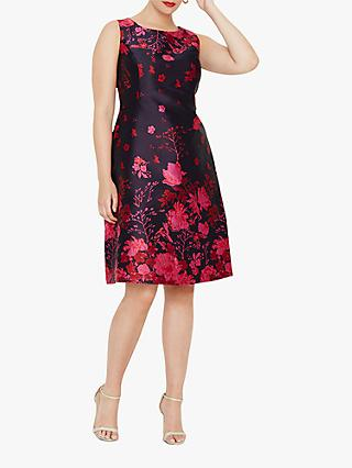 Studio 8 Heidi Jacquard Dress, Multi/Pink