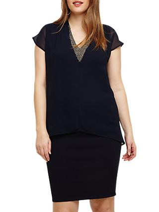 Studio 8 Fiamma Layered Dress, Navy