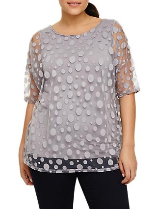 Studio 8 Harriet Spot Top, Silver Grey