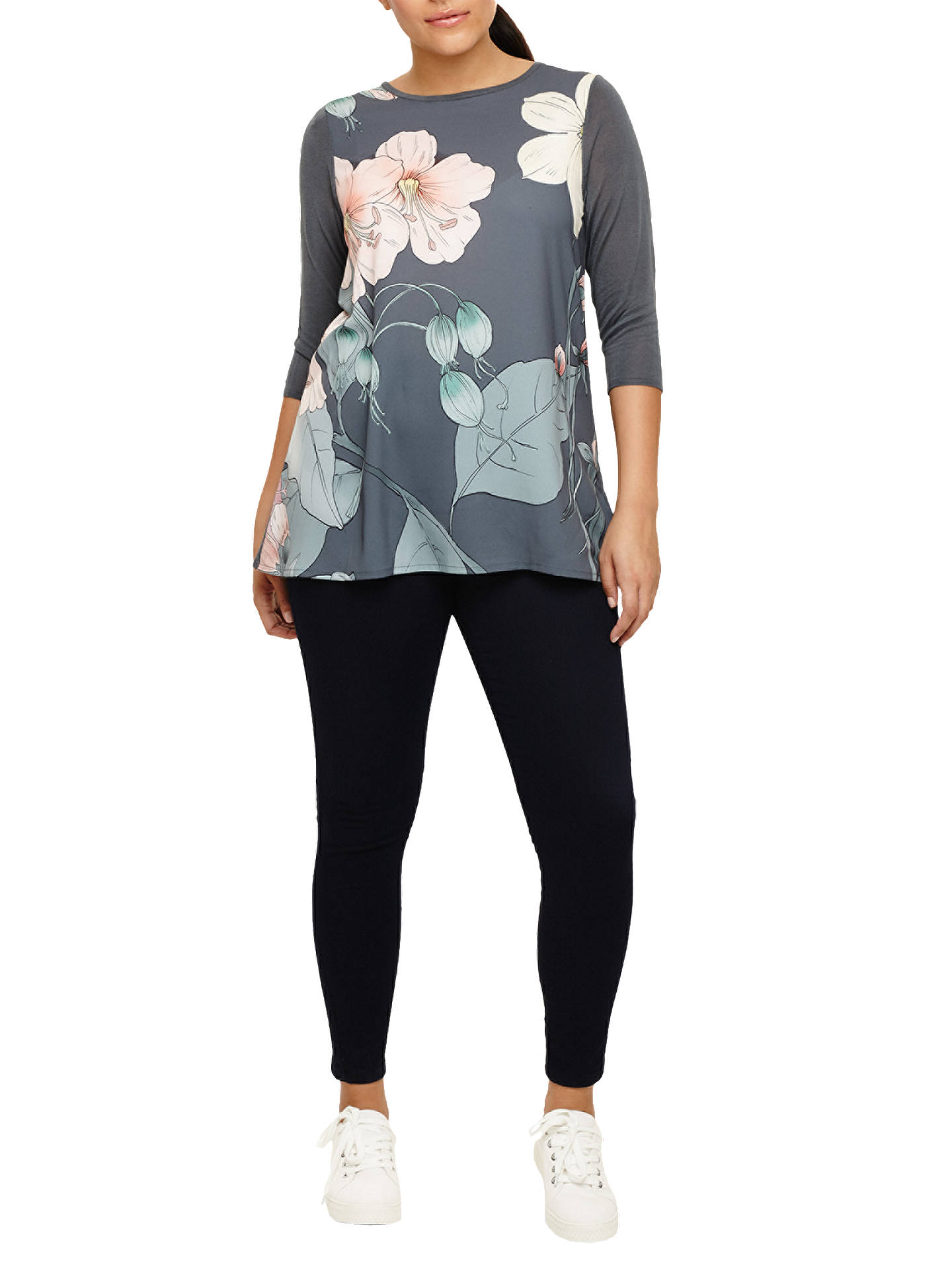 BuyStudio 8 Talia Print Knit Jumper, Grey/Multi, 16 Online at johnlewis.com