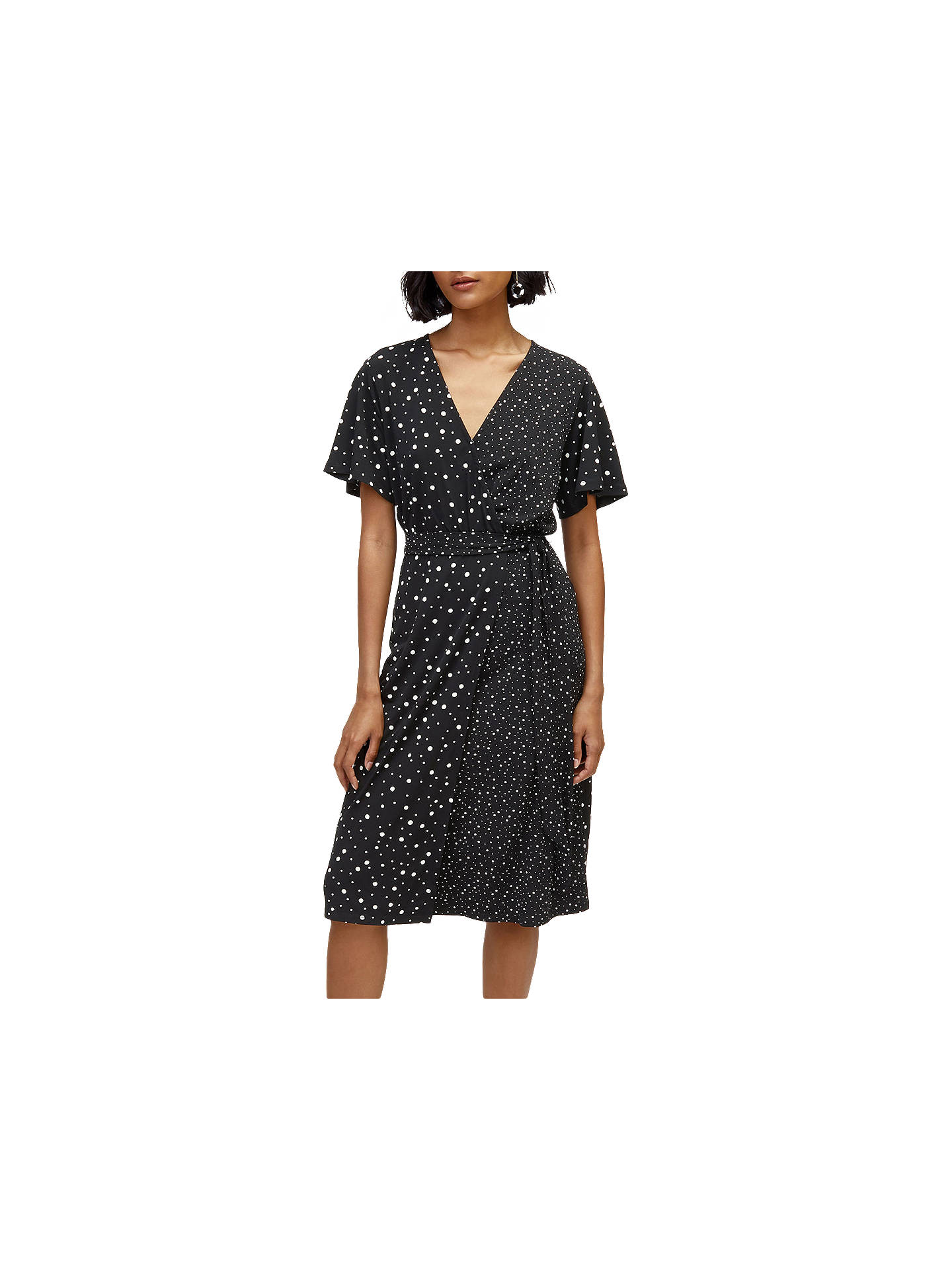 BuyWarehouse Mix And Match Spot Dress, Black Pattern, 6 Online at johnlewis.com