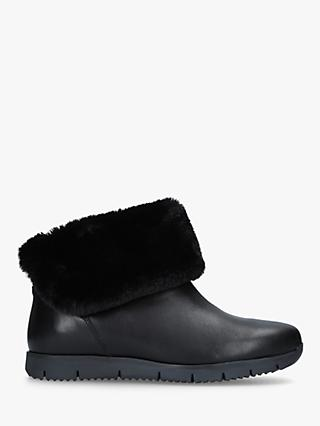 Carvela Comfort Ronnie Ankle Boots, Black Leather