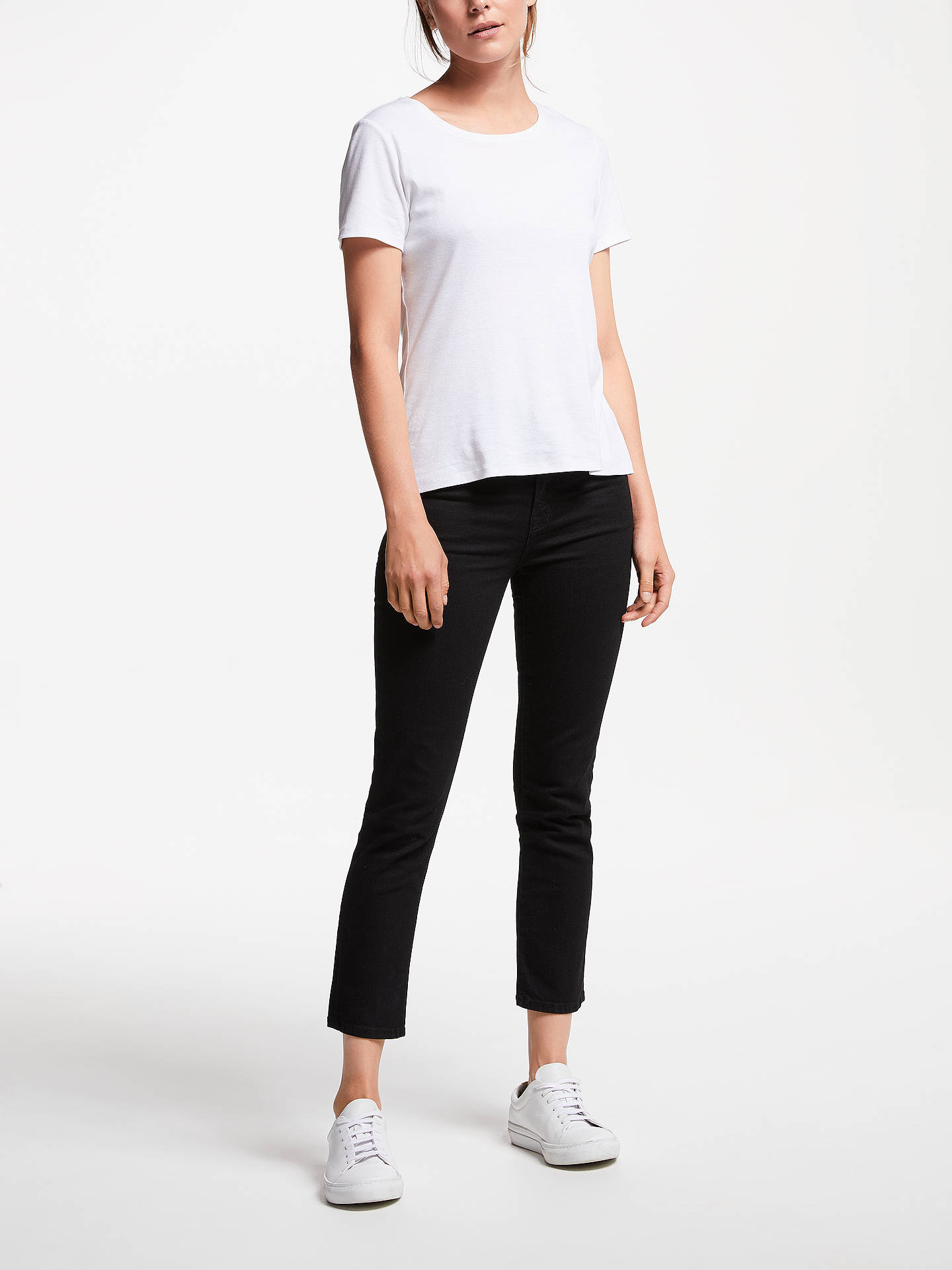 BuyJ. Brand Ruby High Rise Skinny Cropped Jeans, Black, 28 Online at johnlewis.com