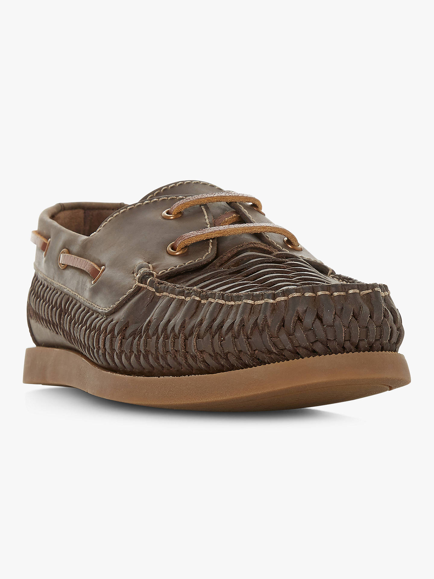 Buy Bertie Billfish Boat Shoes, Brown Leather, 8 Online at johnlewis.com