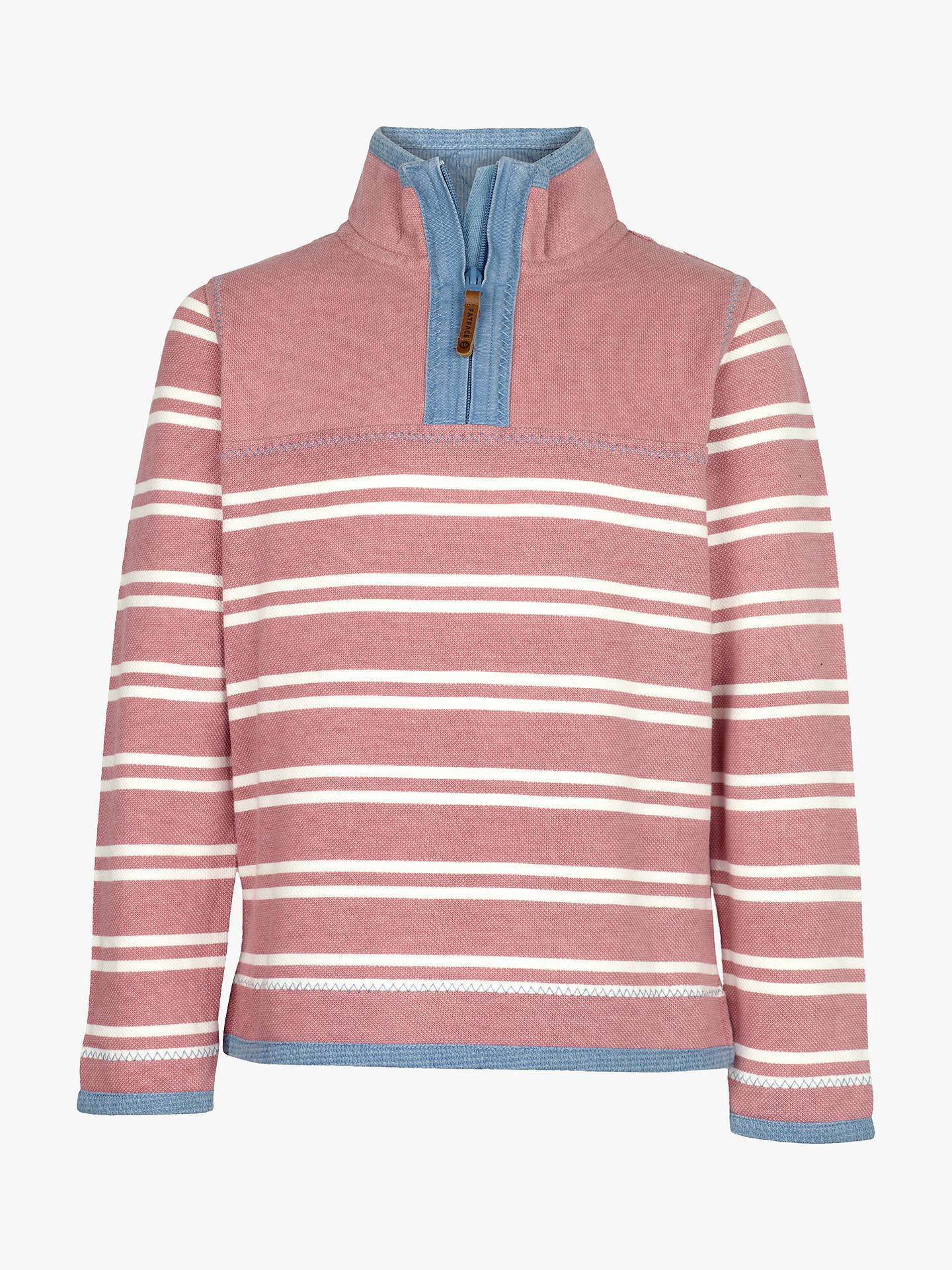 Buy Fat Face Girls' Airlie Stripe Sweatshirt, Dusky Pink, 2-3 years ...