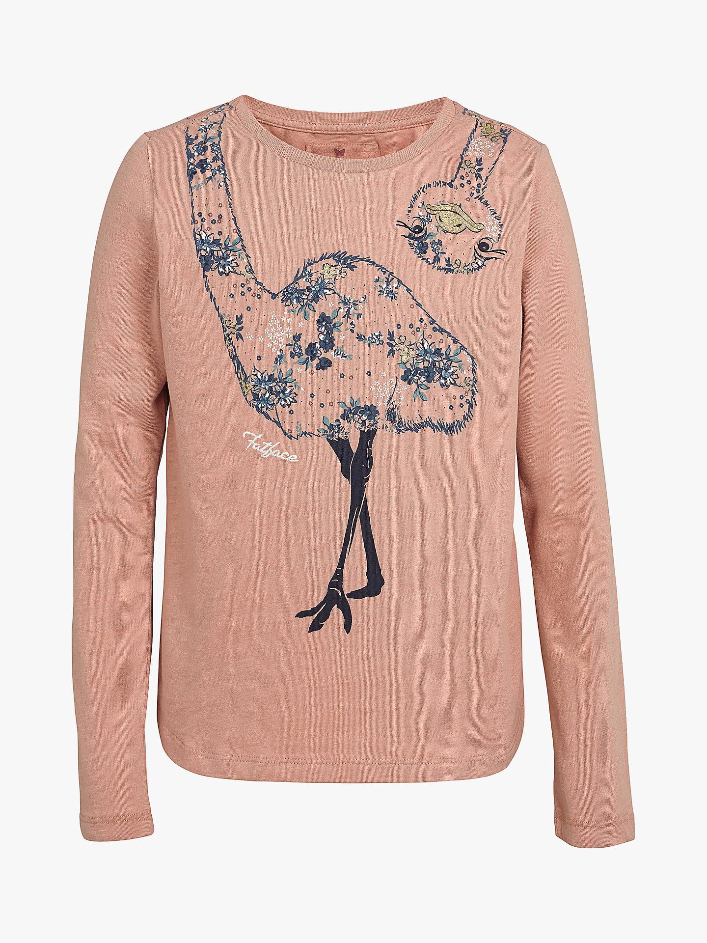 f174d92d86d Fat Face Girls' Emu T-Shirt, Dusky Pink at John Lewis & Partners