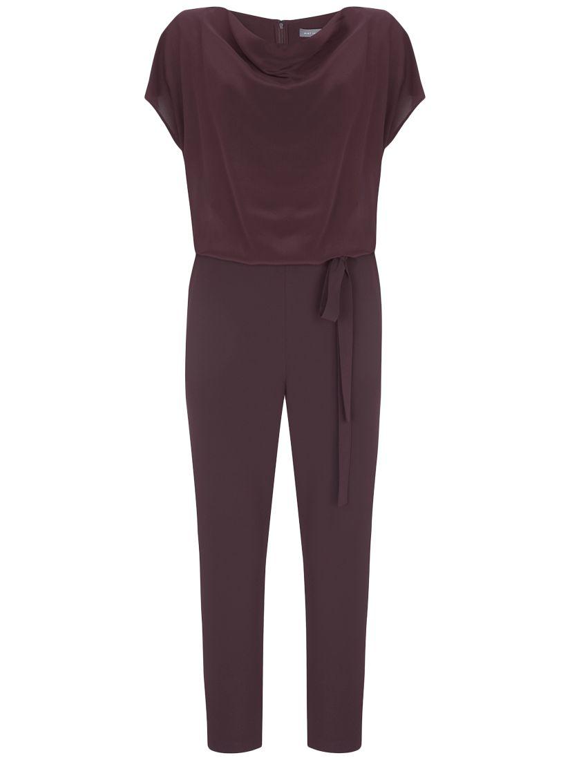52c0b5f07e2 Mint Velvet Cerise Cowl-Neck Silk Jumpsuit