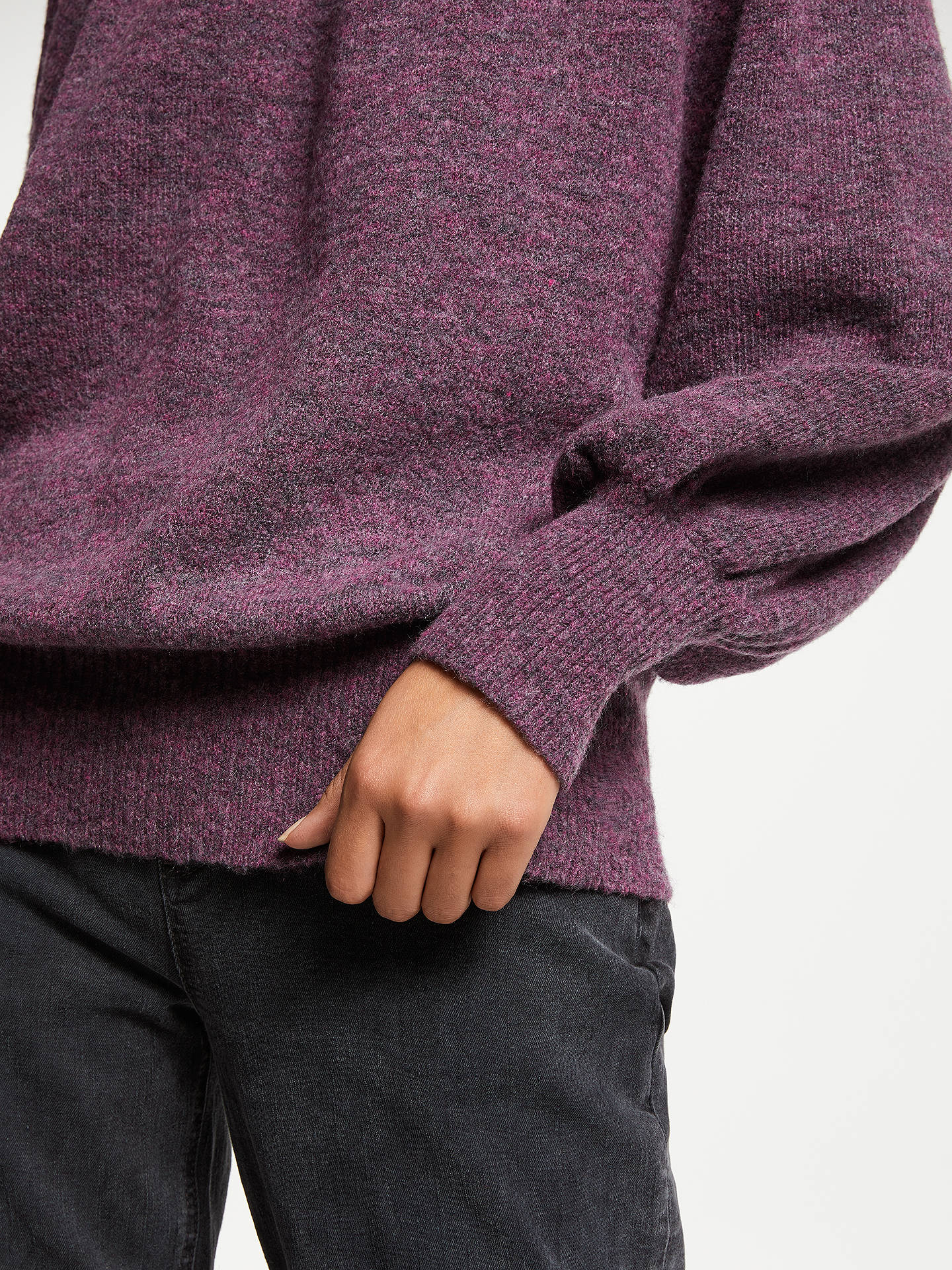 BuyAND/OR Mika High Neck Jumper, Purple, M Online at johnlewis.com