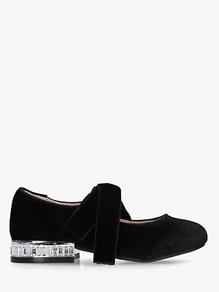 Kurt Geiger London Children's Mini Jewel Heel Shoes, Black