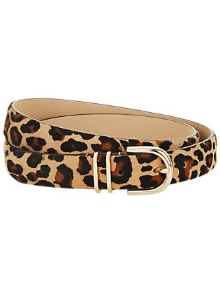 Hobbs Helena Leather Belt, Leopard