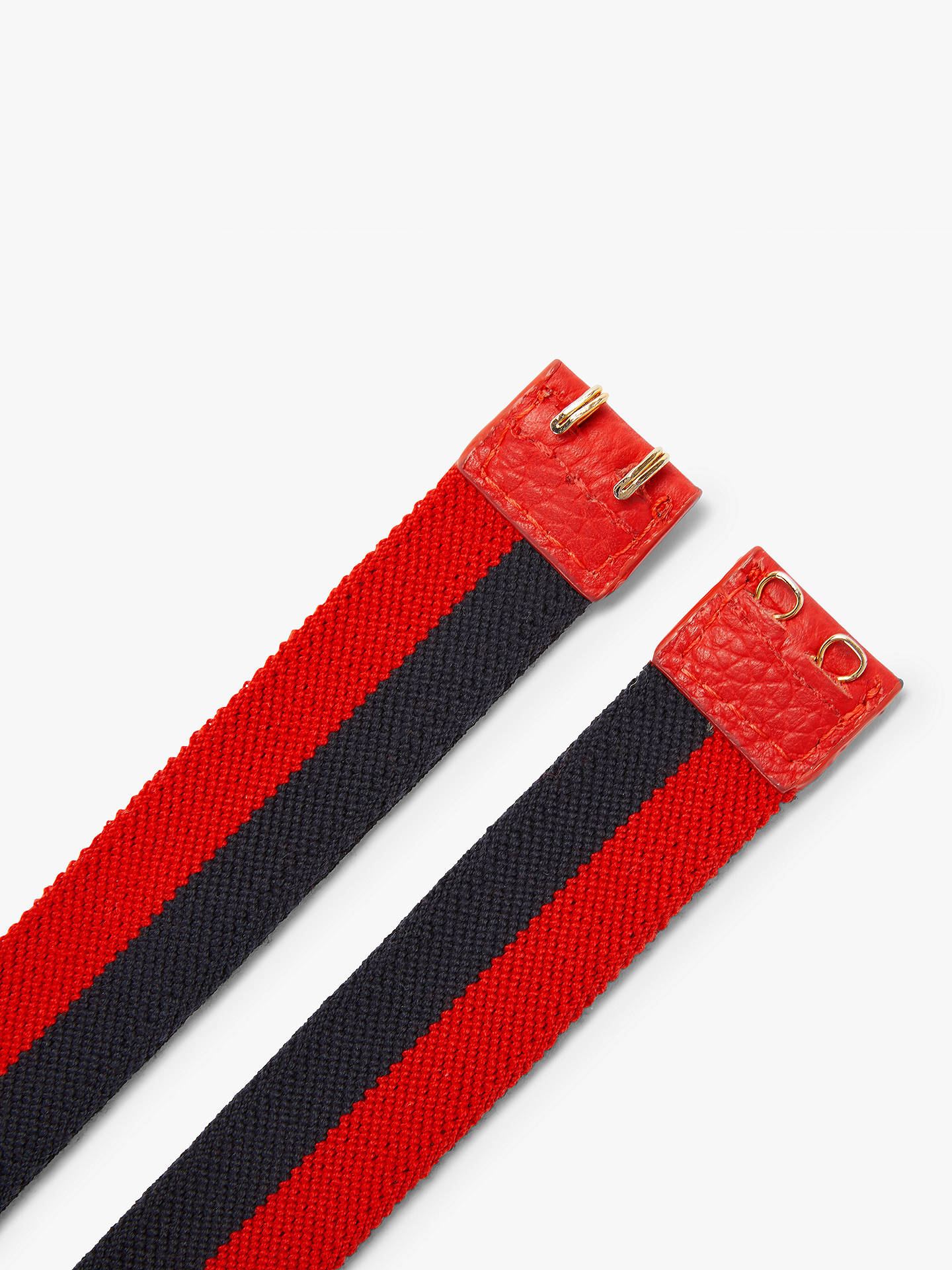 Buy Boden Elasticated Colour Block Belt, Red/Navy, L Online at johnlewis.com