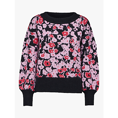 Selected Femme Flowera Jumper, Orchid/Black