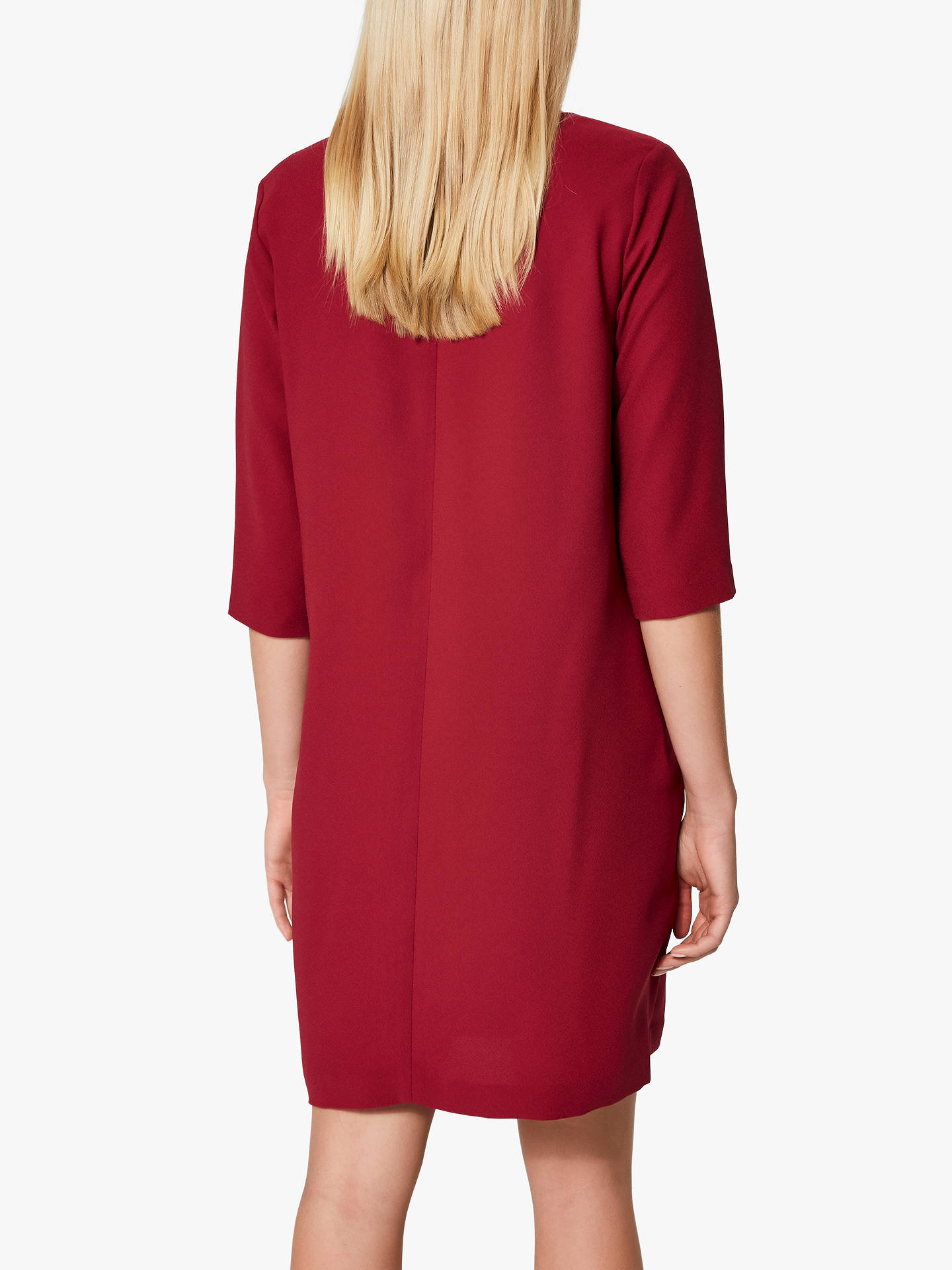 Buy Selected Femme Tunni Dress, Beet Red, 16 Online at johnlewis.com