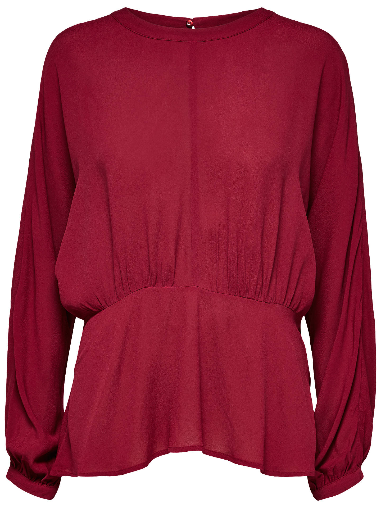BuySelected Femme Baliva Top, Beet Red, 16 Online at johnlewis.com
