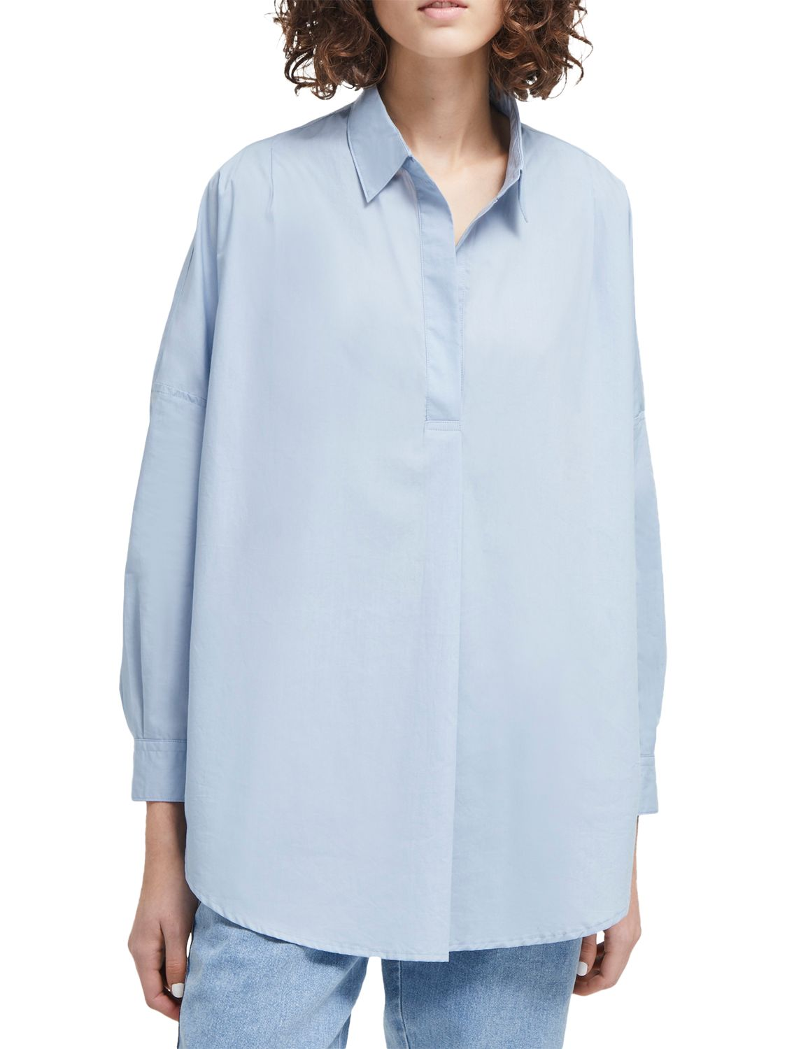 French Connection French Connection Rhodes Poplin Shirt, Pavilion Blue