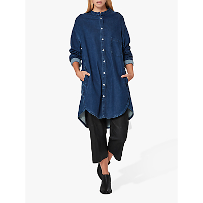 Selected Femme Denim Shirt Dress, Dark Blue