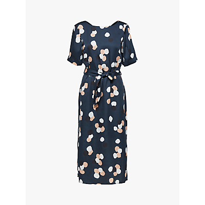Selected Femme Foyma Spot Dress, Dark Sapphire