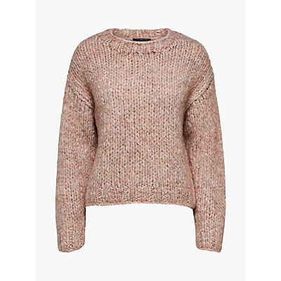 Selected Femme Hai Chunky Knit Jumper, Cafe Creme