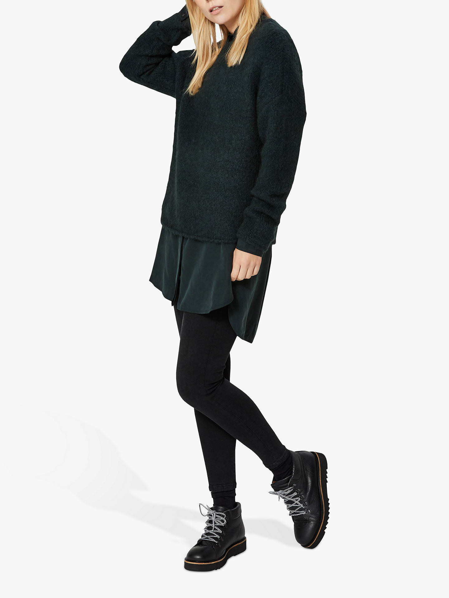 Buy Selected Femme Regina Jumper, Scarab Green, S Online at johnlewis.com