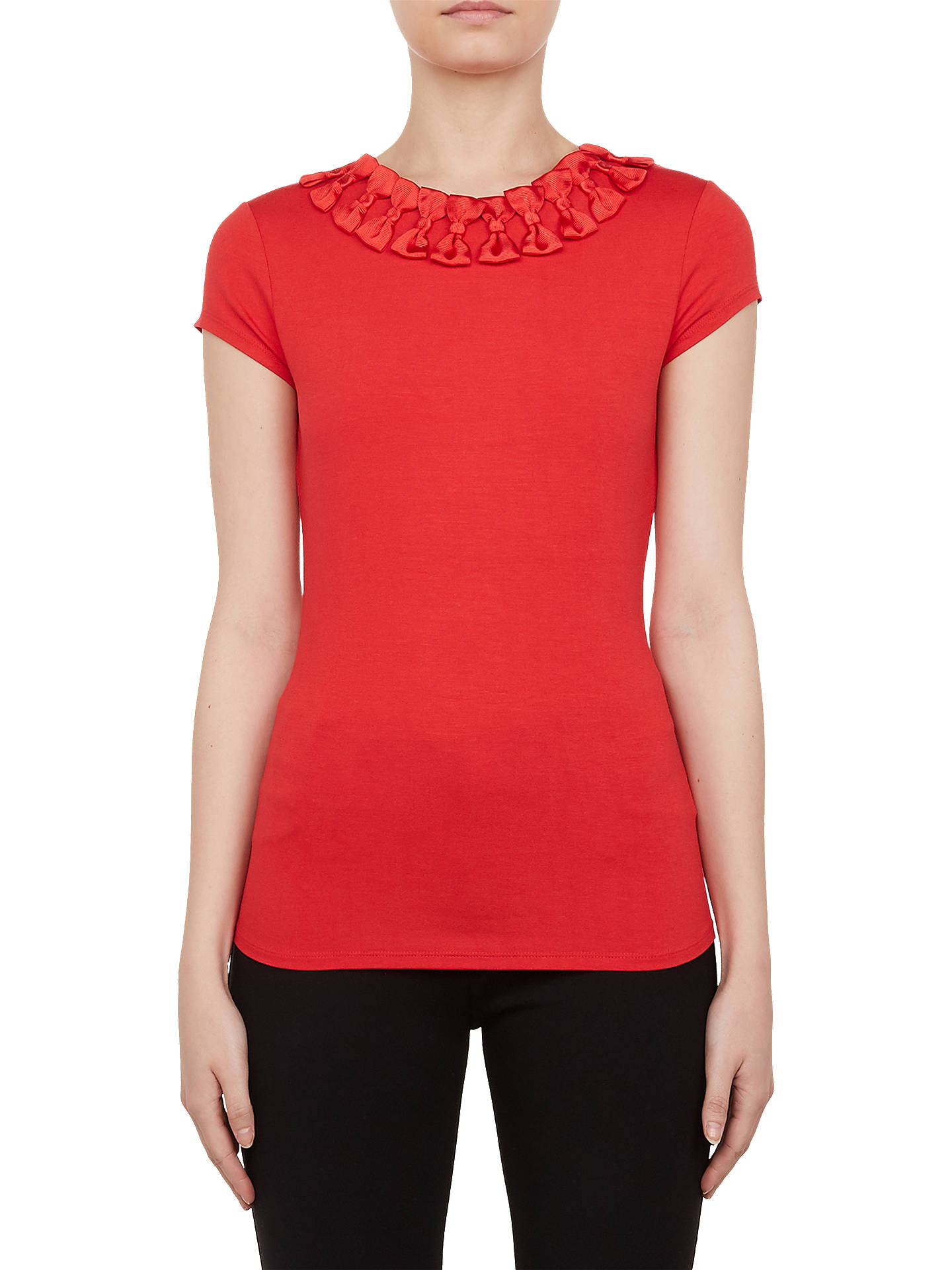 4c972a0070a59c Ted Baker Charre Bow Trim T-Shirt at John Lewis   Partners