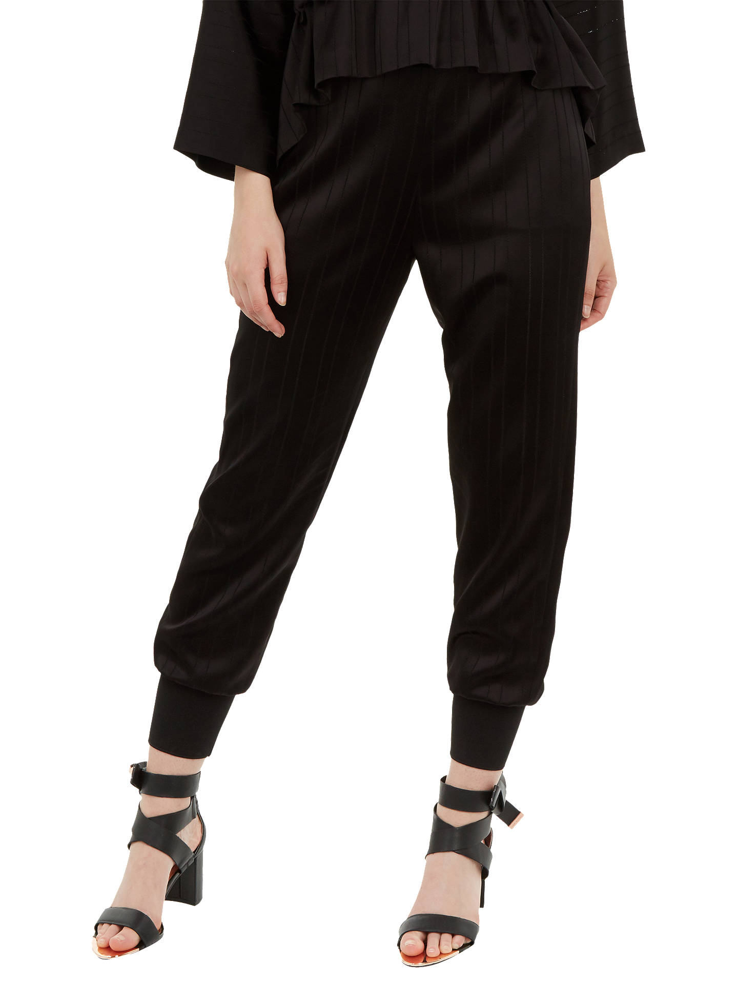Buy Ted Baker Natteah Jogger Trousers, Black, M Online at johnlewis.com