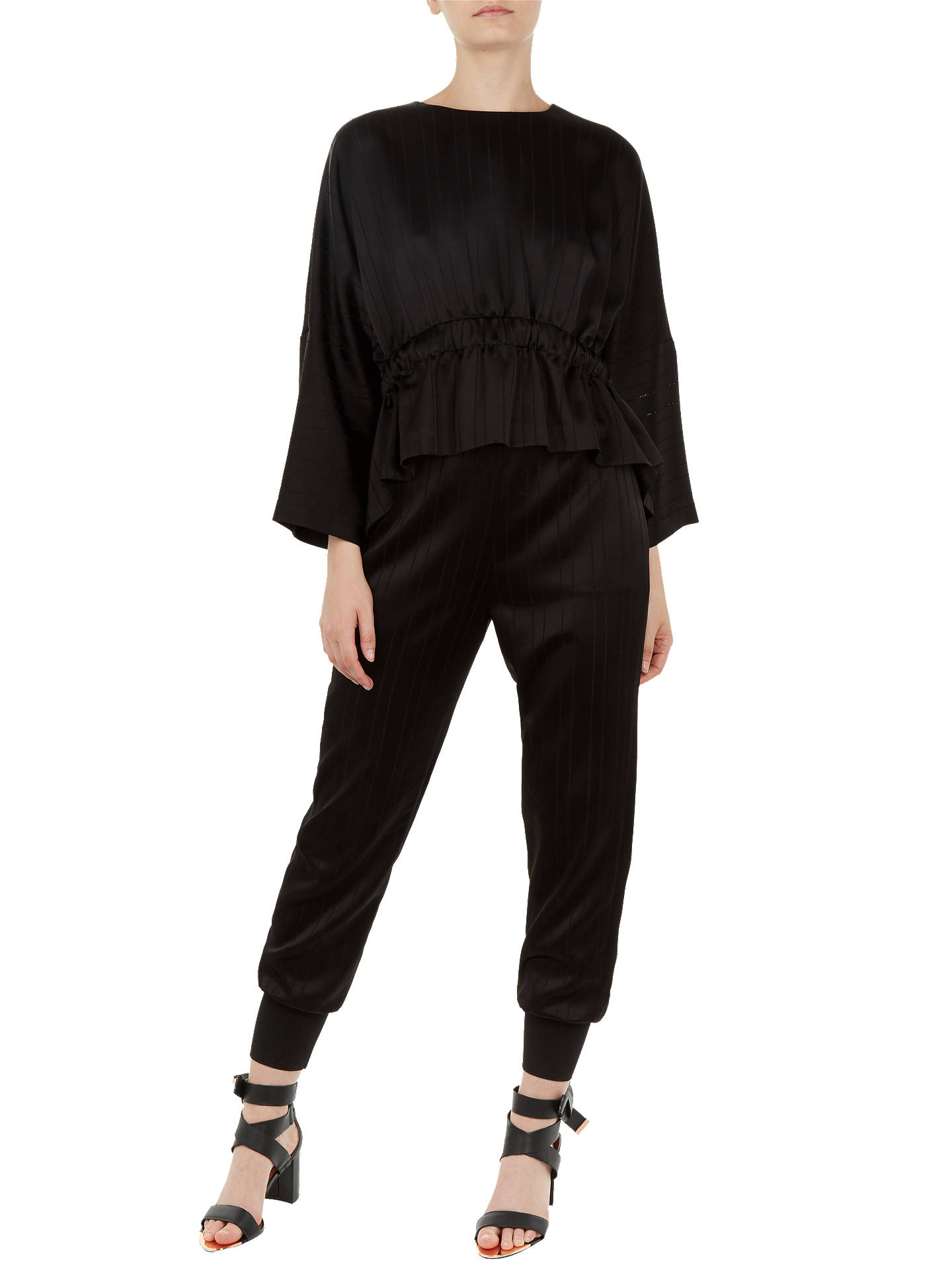 BuyTed Baker Kimilla Ruched Top, Black, XL Online at johnlewis.com