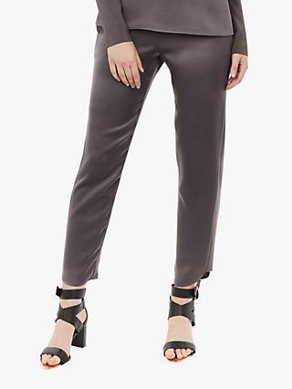Ted Baker Madiy Knit Detail Trousers, Grey Charcoal