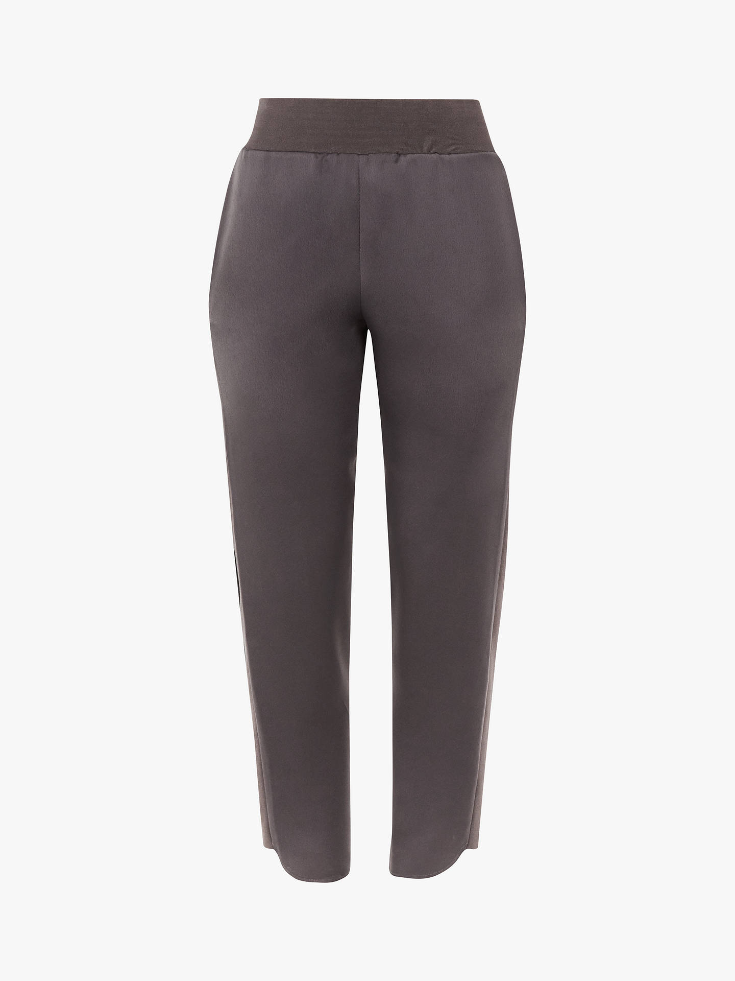 BuyTed Baker Madiy Knit Detail Trousers, Grey Charcoal, L Online at johnlewis.com