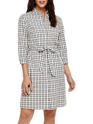 Phase Eight Lorenna Check Dress, Ivory/Multi