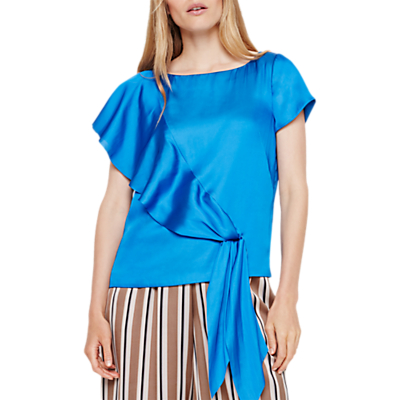 Damsel in a Dress Asymmetric Blouse, Blue
