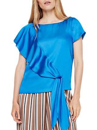 Damsel in a Dress Asymmetric Blouse, Blue