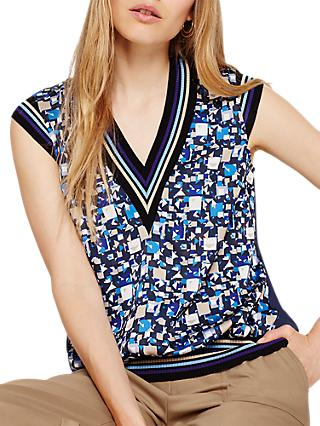 Damsel in a Dress Fran Sleeveless Printed Blouse, Multi