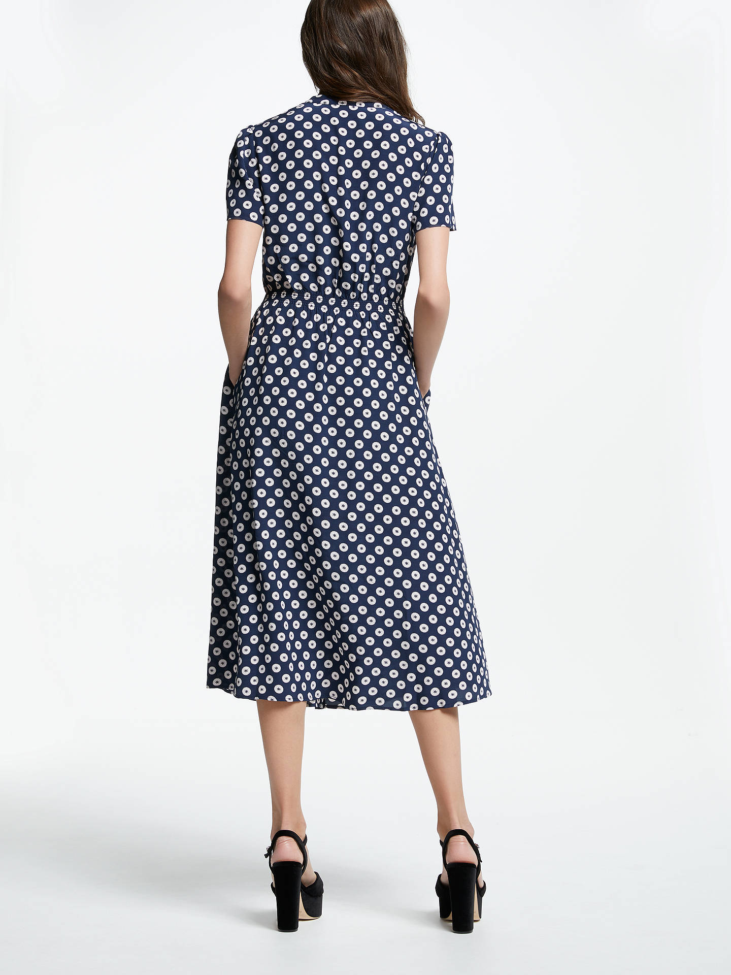 BuySomerset by Alice Temperley Banana Spot Shirt Dress, Blue, 8 Online at johnlewis.com
