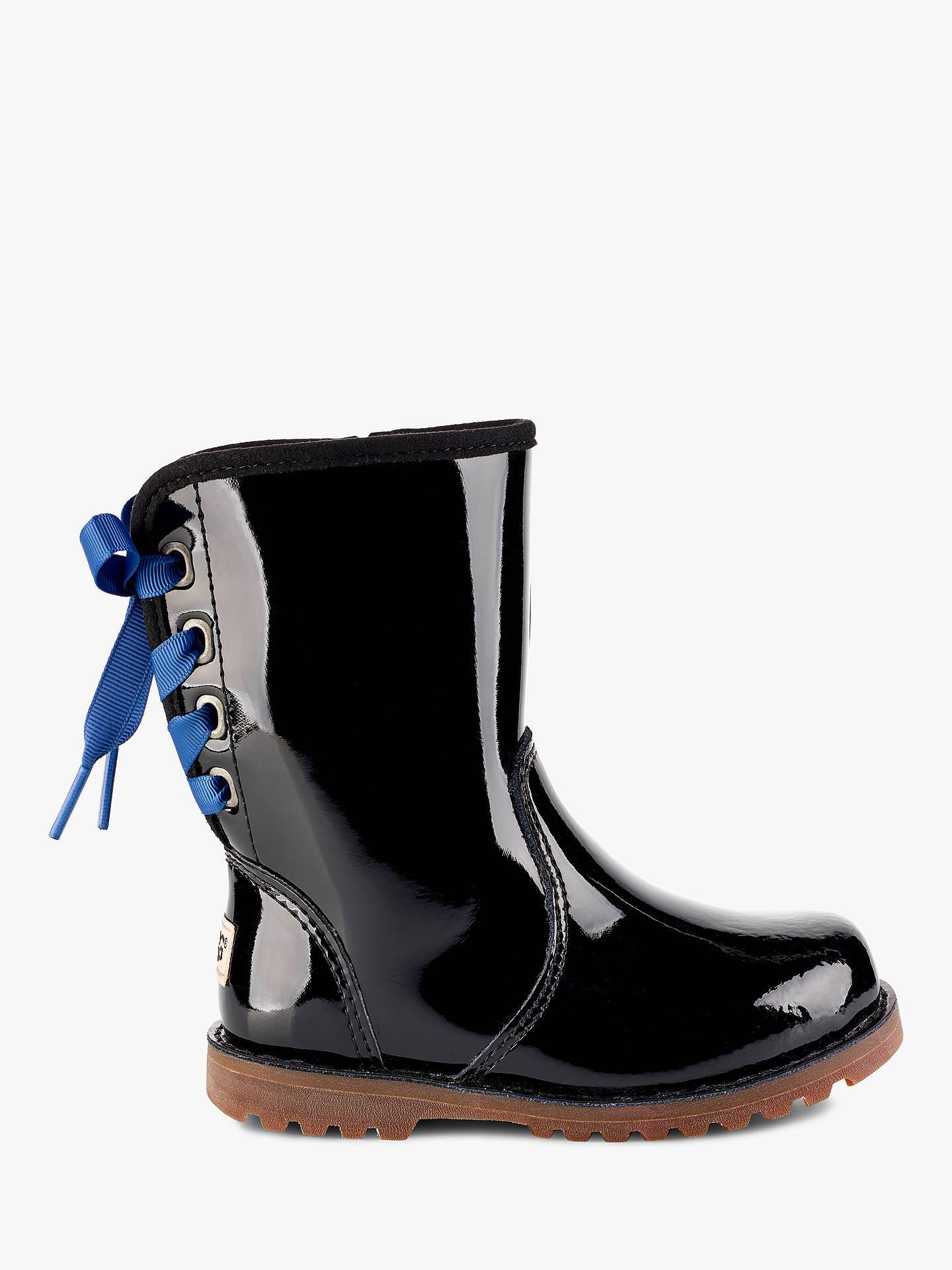 a6651704bc5 UGG Children's Corene Boot, Black Patent at John Lewis & Partners