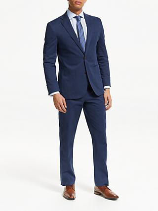 John Lewis & Partners Zegna Cotton Cashmere Tailored Suit Trousers, Blue