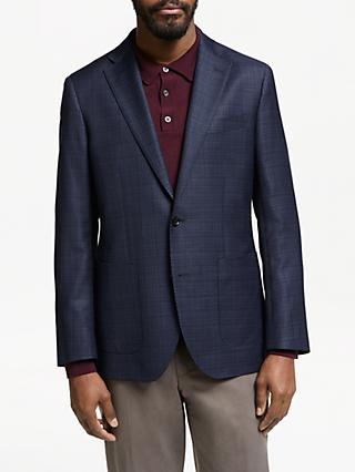 John Lewis & Partners Zegna Wool Silk Tailored Blazer, Navy