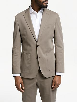 John Lewis & Partners Zegna Cotton Cashmere Tailored Suit Jacket, Mushroom