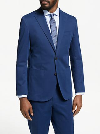John Lewis & Partners Zegna Cotton Cashmere Tailored Suit Jacket, Blue