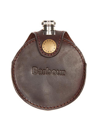 Buy Barbour Round Hip Flask in Gift Box, Silver Online at johnlewis.com