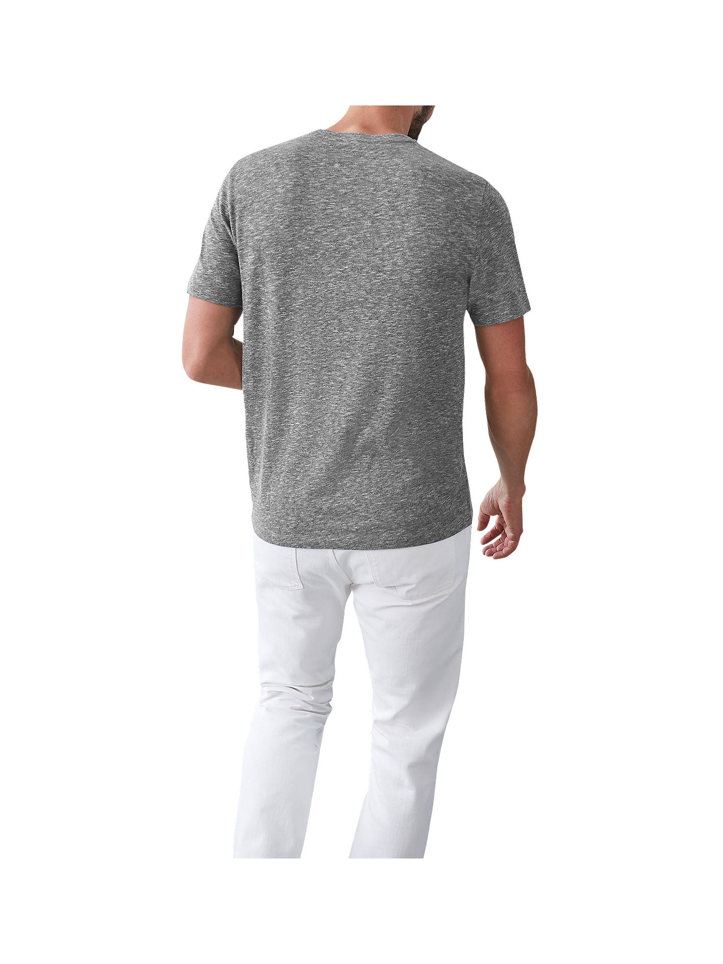 BuyReiss Venice Melange Crew Neck T-Shirt, Soft Grey, S Online at johnlewis.com