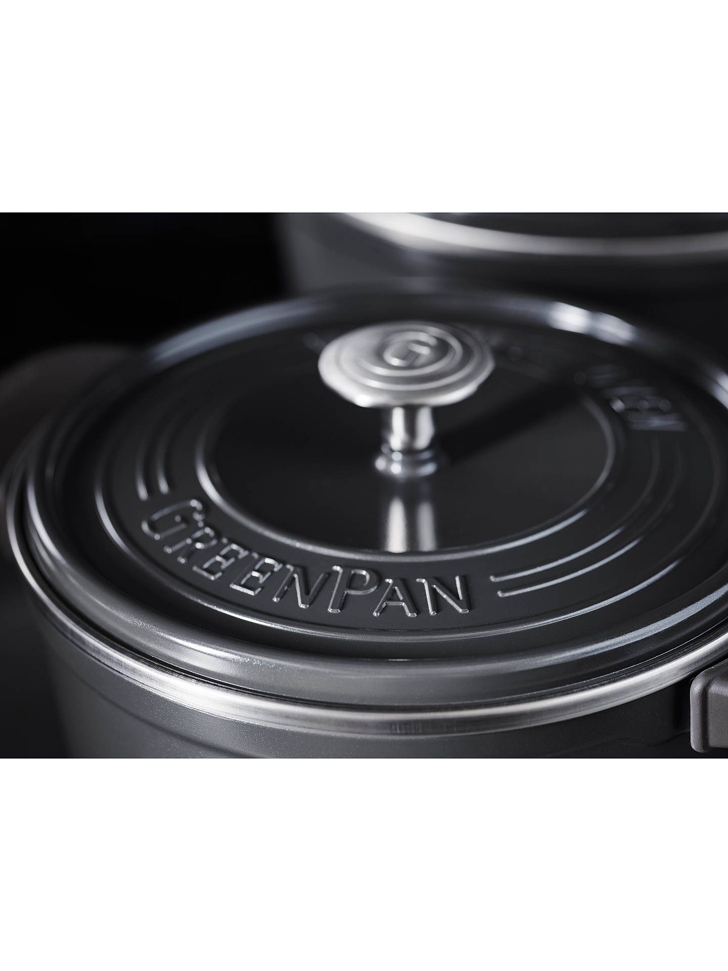 Buy GreenPan Featherweight Cast Aluminium Casserole, 24cm Online at johnlewis.com