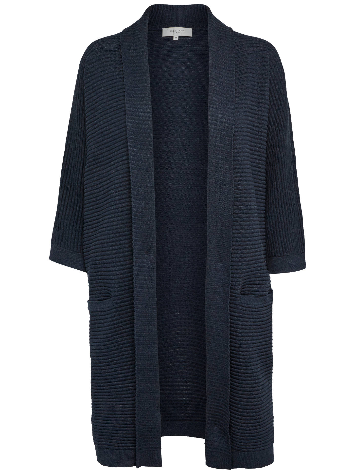 Buy Selected Femme Laua Textured Cardigan, Dark  Sapphire, L Online at johnlewis.com
