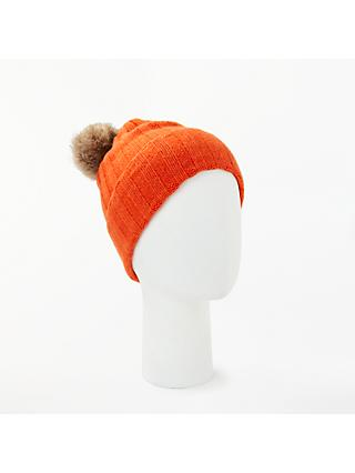 fa3d815ad86cd Winser London Cashmere Pom Pom Hat, Rich Orange
