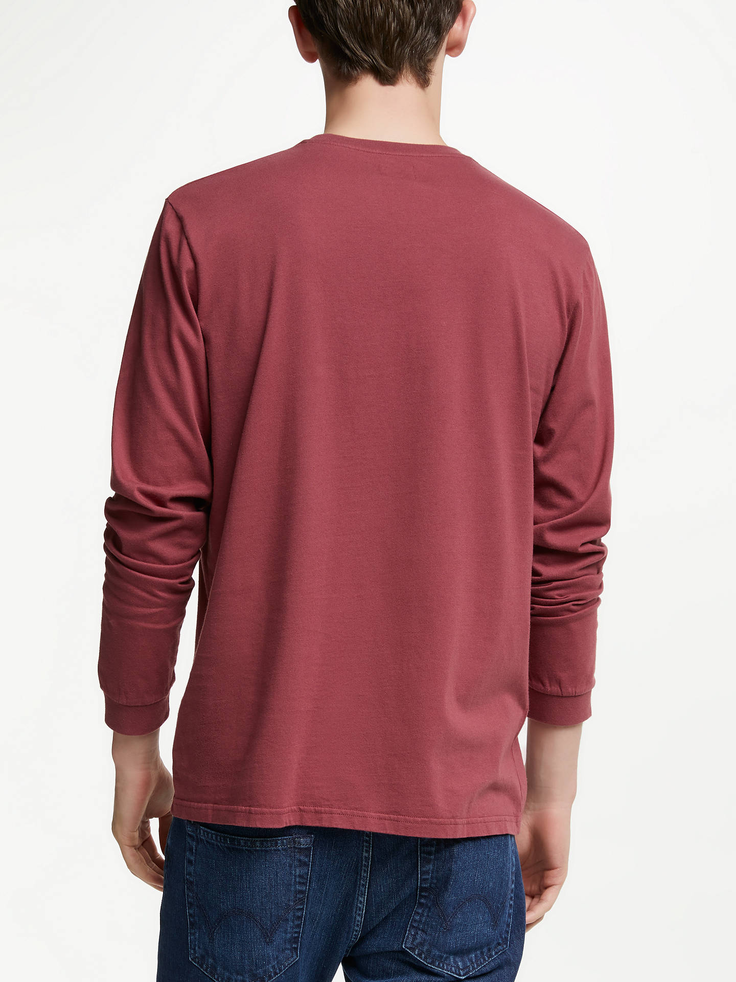 10/% OFF Edwin Japan T-Shirt Oxblood Red Garment Washed