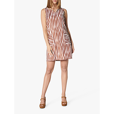 L.K.Bennett Annelin Stripe Tunic Dress, Brick/White